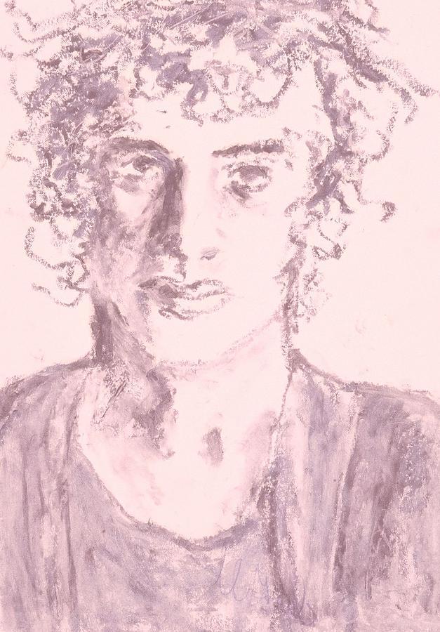 Fine Art Drawing - Captive by Iris Gill