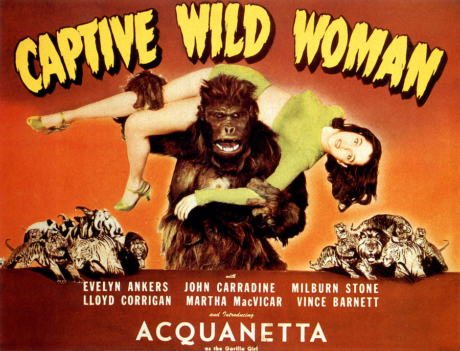1940s Movies Photograph - Captive Wild Woman, Ray Crash Corrigan by Everett