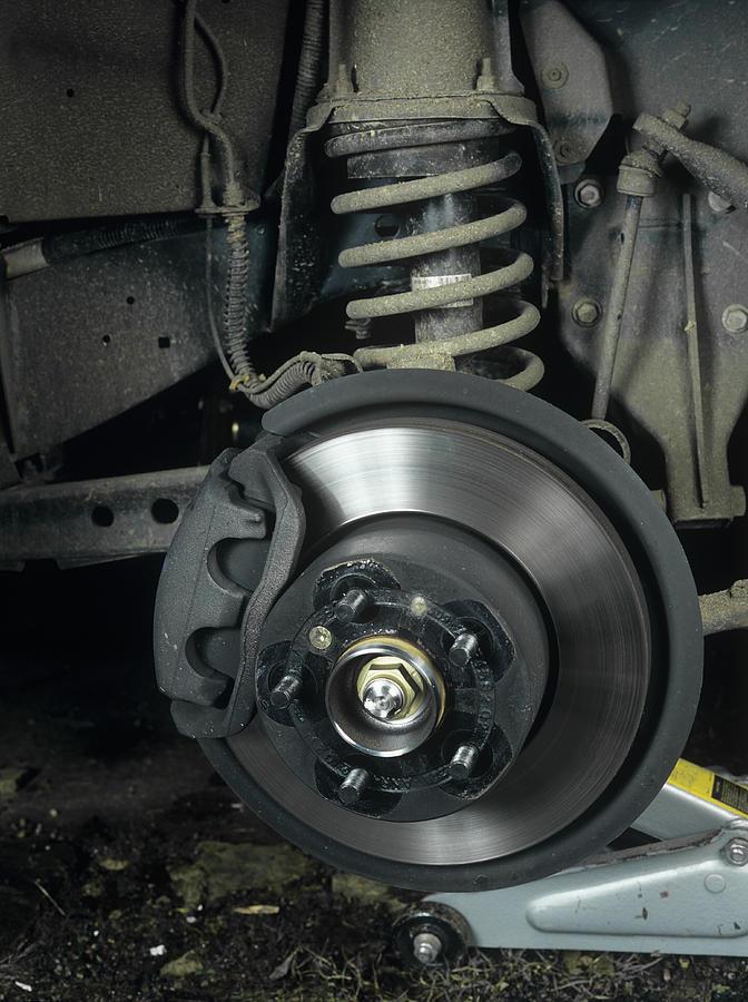 Brake Photograph - Car Disc Brake by Andrew Lambert Photography