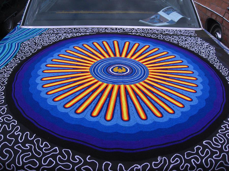 Blue Photograph - Car Hood Of Yarn by Kym Backland