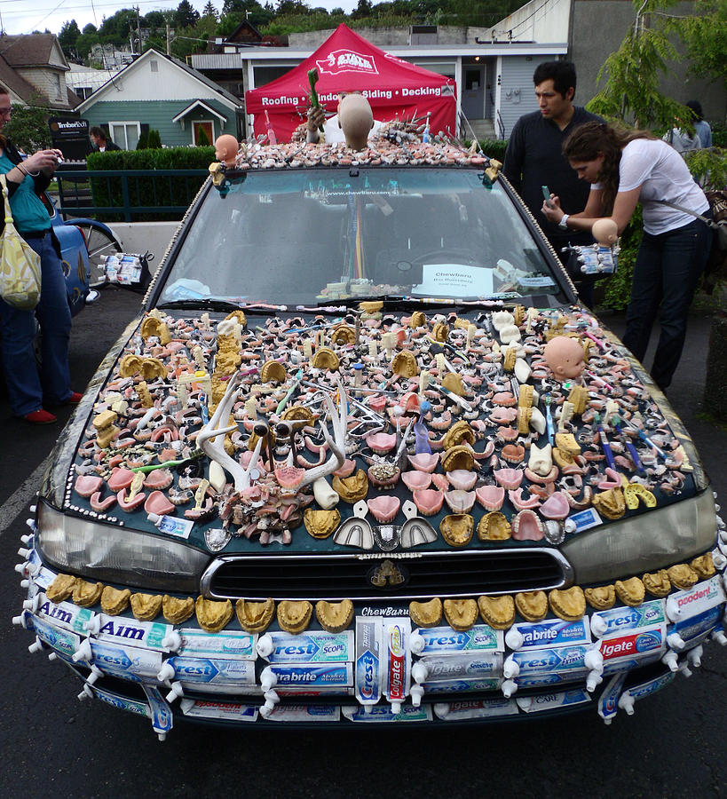 Teeth Photograph - Car Of Teeth by Kym Backland
