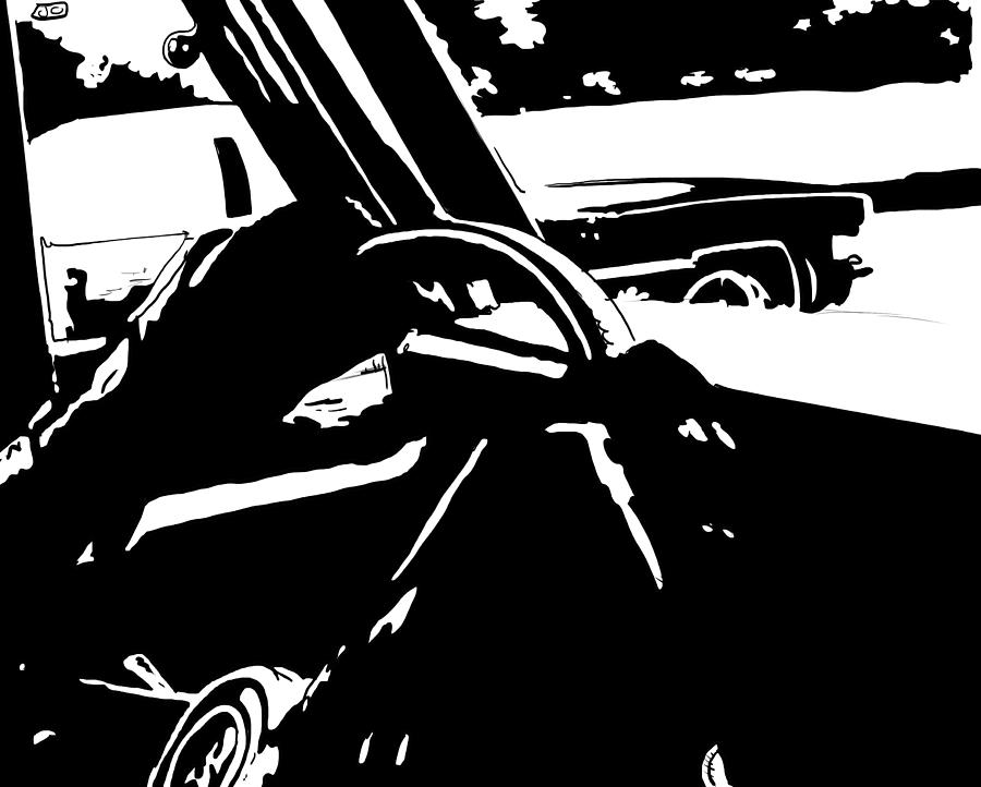 Driver Drawing - Car Passing by Giuseppe Cristiano