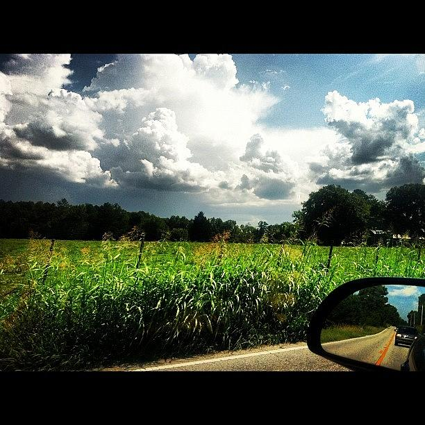 Clouds Photograph - Car Rides.  by Lea Ward
