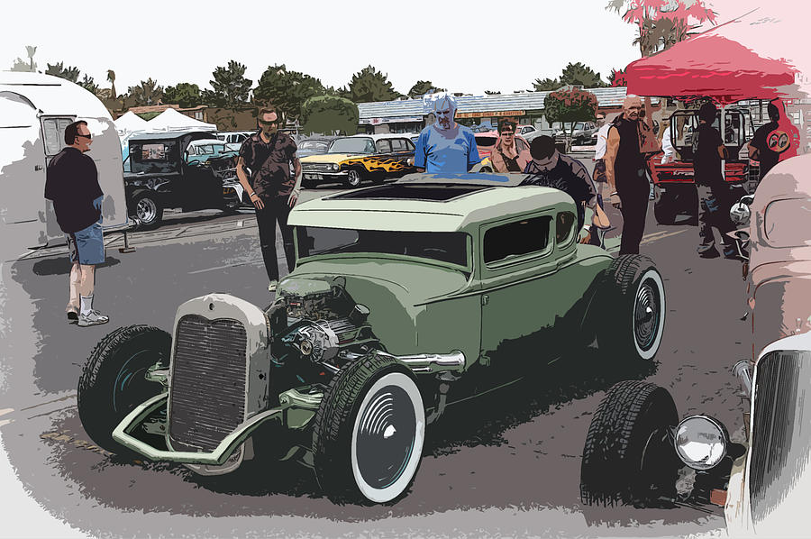 Hot Rod Coupe Photograph - Car Show Coupe by Steve McKinzie