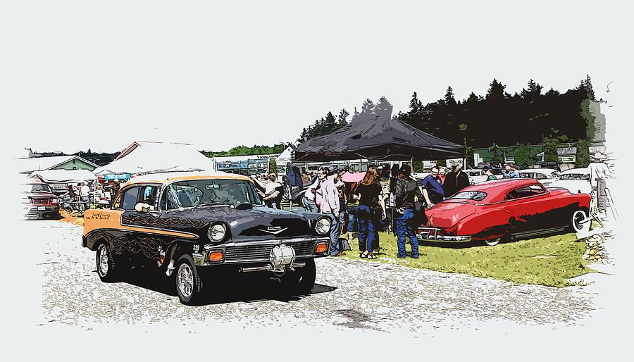 Hot Rod Photograph - Car Show Gasser by Steve McKinzie