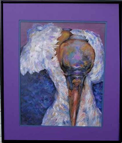 Carabou Stork by Karen Camden Welsh