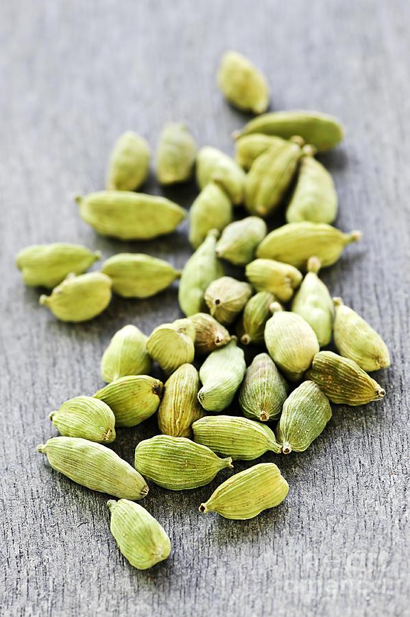 Cardamom Photograph - Cardamom Seed Pods by Elena Elisseeva