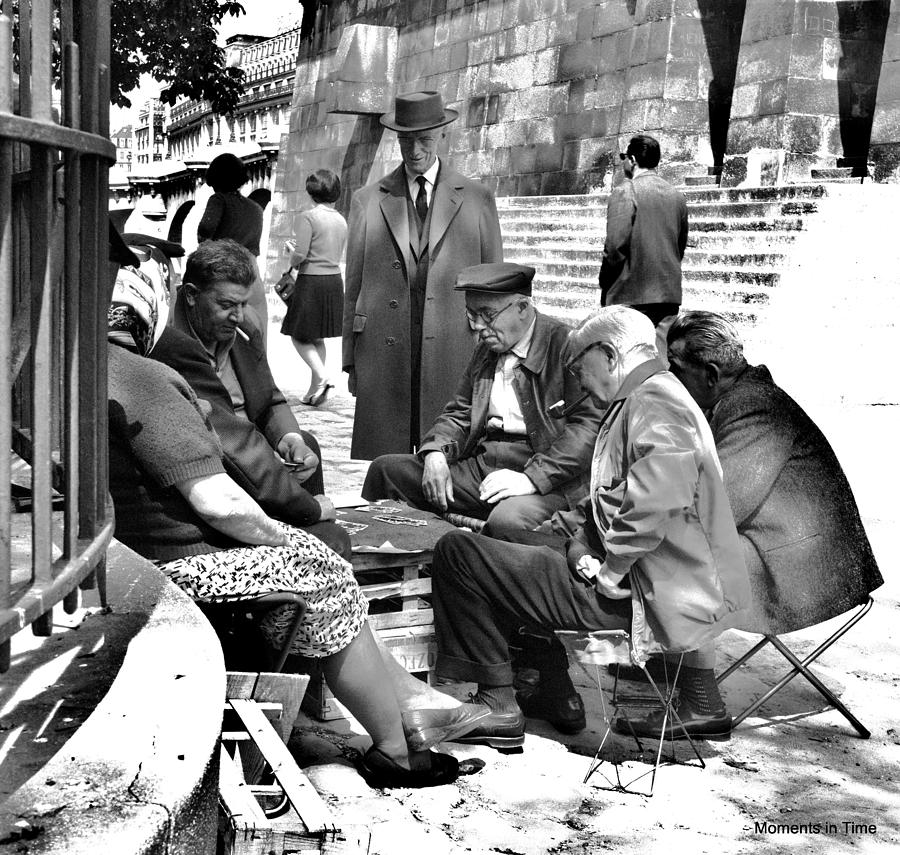 Paris Photograph - Cardgame Paris 1960 by Glenn McCurdy