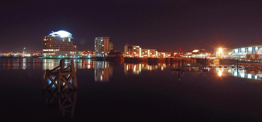 Landscape Photograph - Cardiff Bay Wales by Jenny Potter
