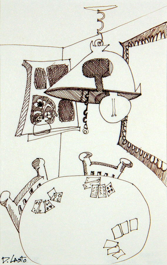 Room Drawing - Cards by Denny Casto
