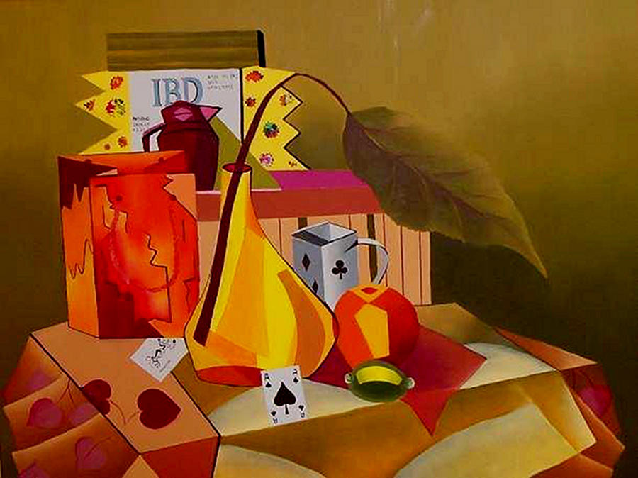 Abstract Painting - Cards On The Table by Karin Eisermann