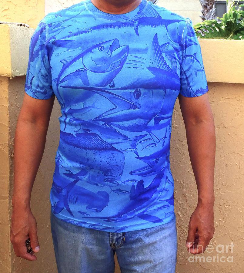 T Shirt Digital Art - Carey Chen Performance Shirt by Carey Chen