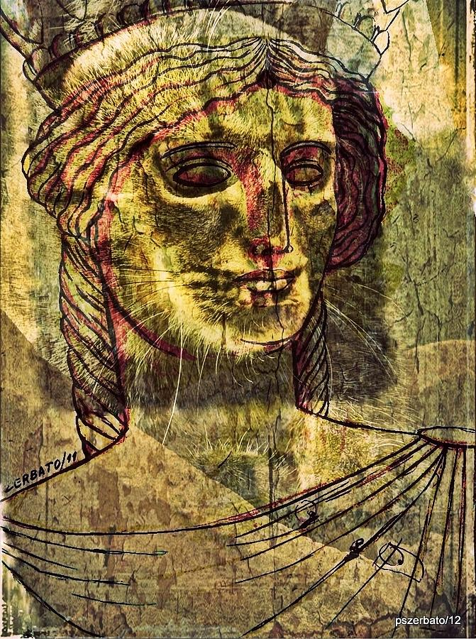 Caryatids Digital Art - Cariatides Muertas II by Paulo Zerbato