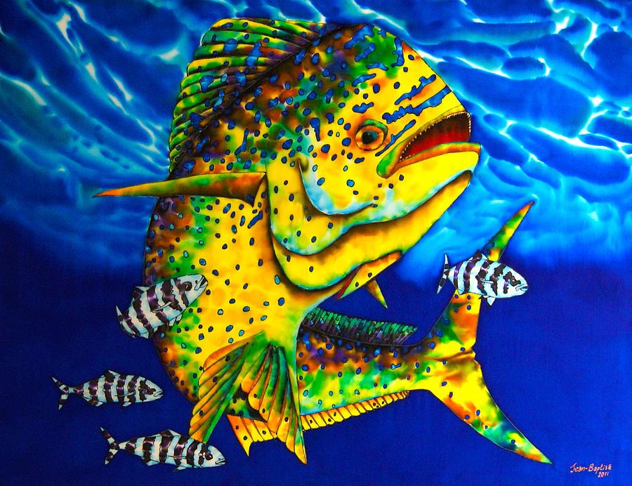 Pilot Fish Painting - Caribbean Bull by Daniel Jean-Baptiste