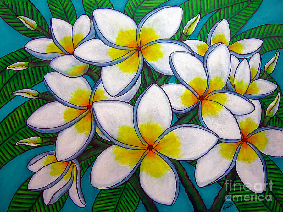 Frangipani Painting - Caribbean Gems by Lisa  Lorenz