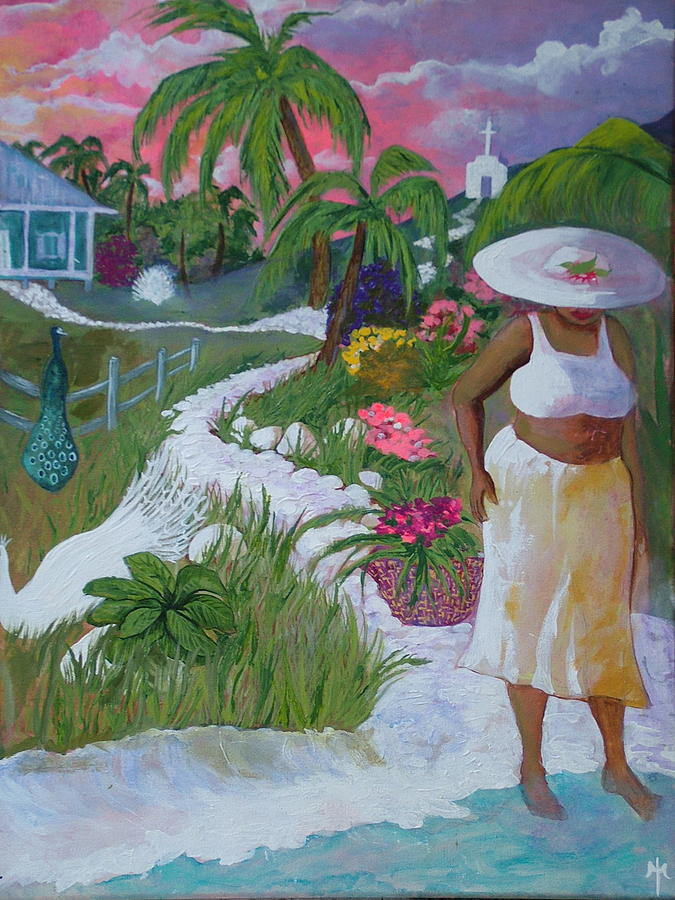 Caribbean Home Painting By Teresa Grace Mock