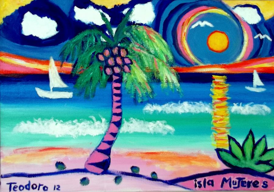 Caribbean Life 2 Painting by Ted Hebbler