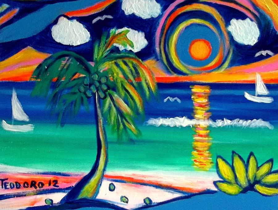 Caribbean Life Painting by Ted Hebbler