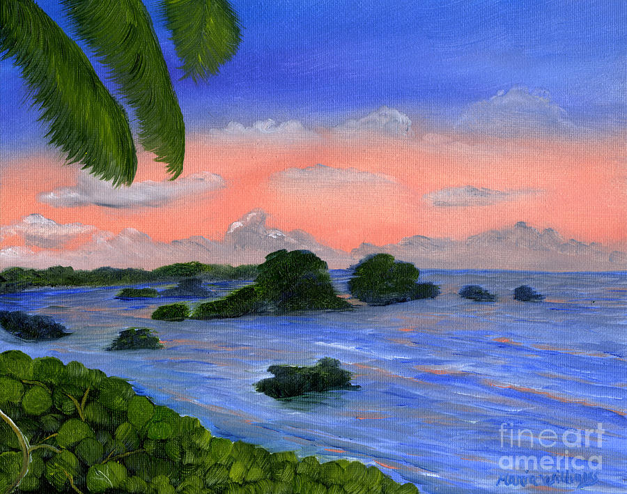 Ocean Painting - Caribbean Sky by Maria Williams