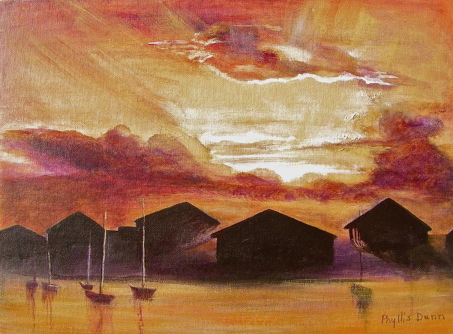 Caribbean Sunrise by Phyllis Dunn