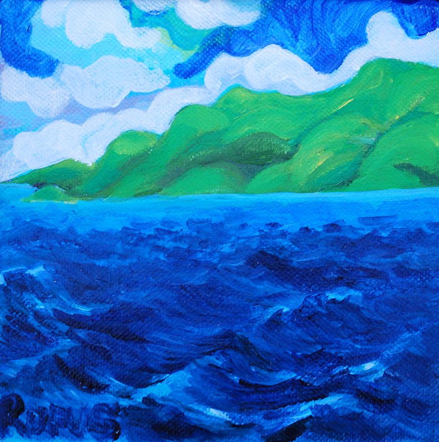 Blue Painting - Caribe Seascape by Rufus Norman