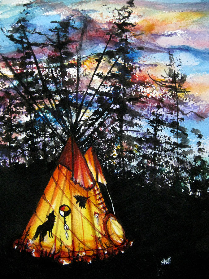 Caribou As Totem Painting by NHowell
