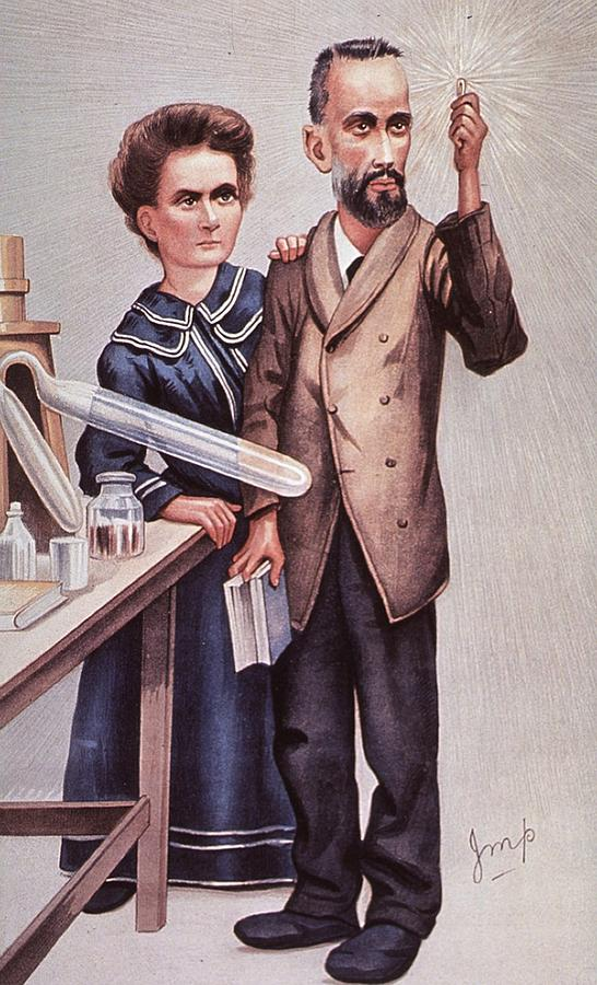 History Photograph - Caricature Of Pierre And Marie by Everett