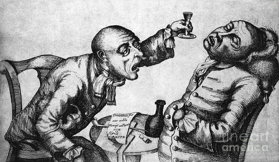 History Photograph - Caricature Of Two Alcoholics, 1773 by Science Source