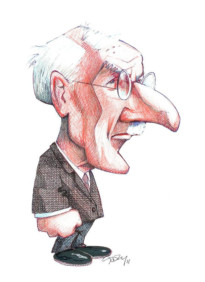 Adult Photograph - Carl Jung, Caricature by Gary Brown