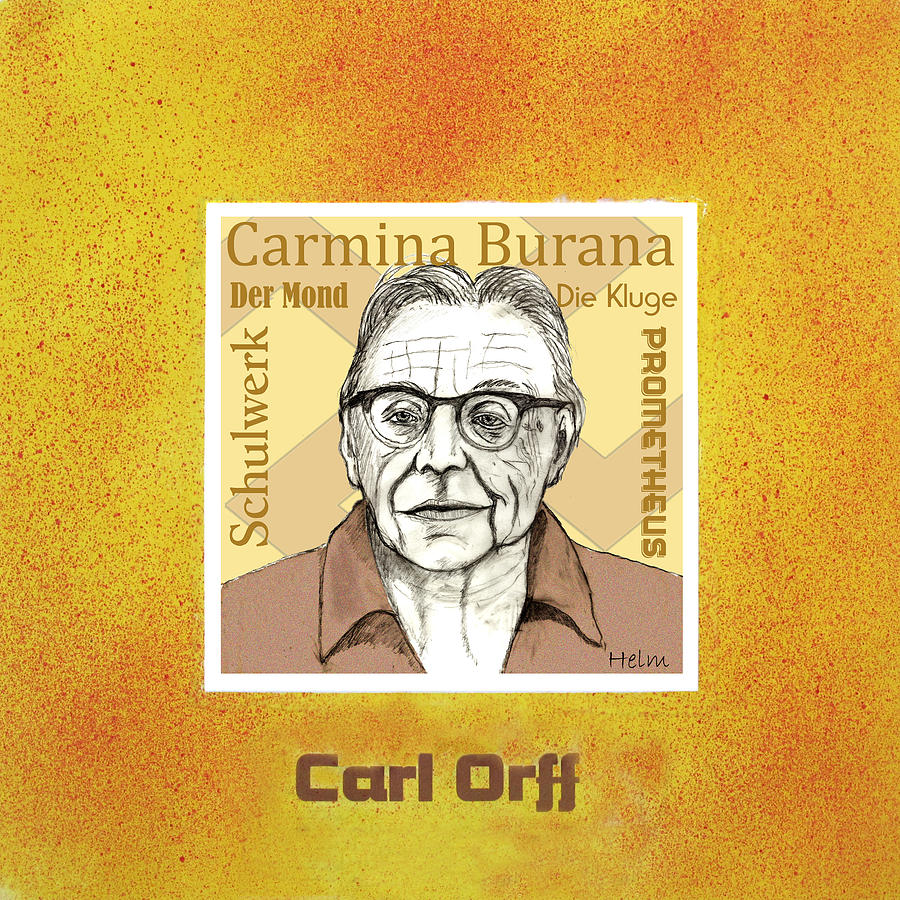 Orff Mixed Media - Carl Orff by Paul Helm