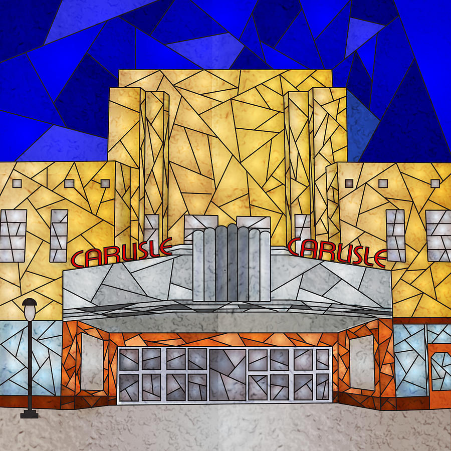 Carlisle Theatre Digital Art by Mary Parks