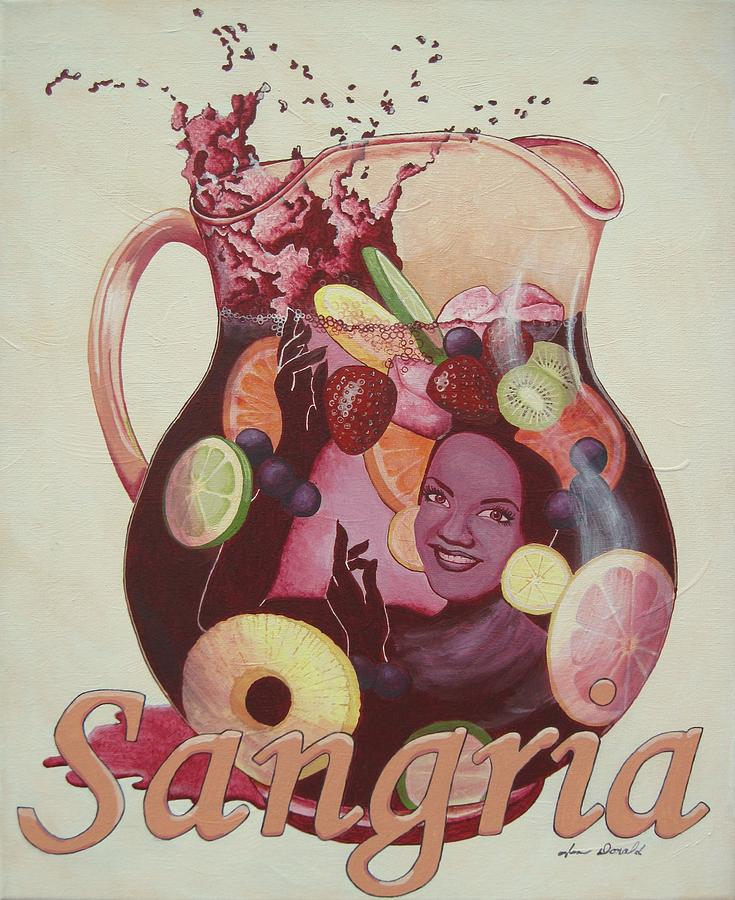 Wine Painting - Carmen Miranda Sangria by Jennifer  Donald