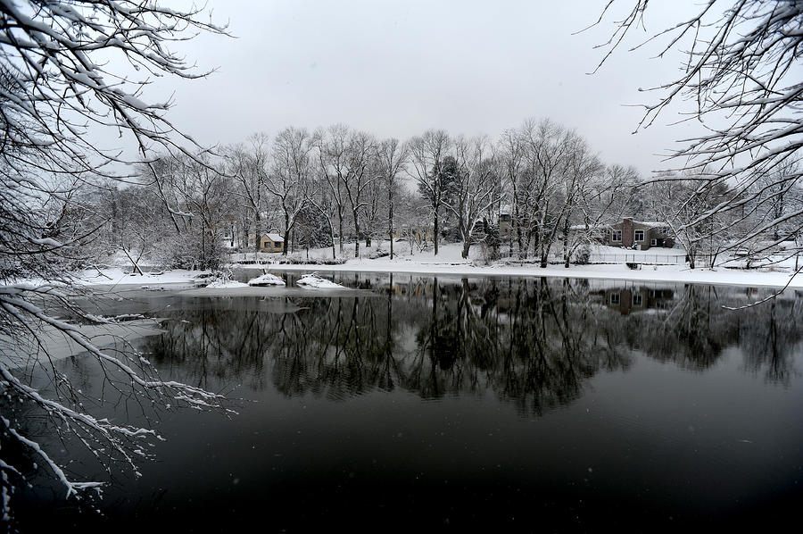 Snow Photograph - Carnegie Lake by Frank DiGiovanni