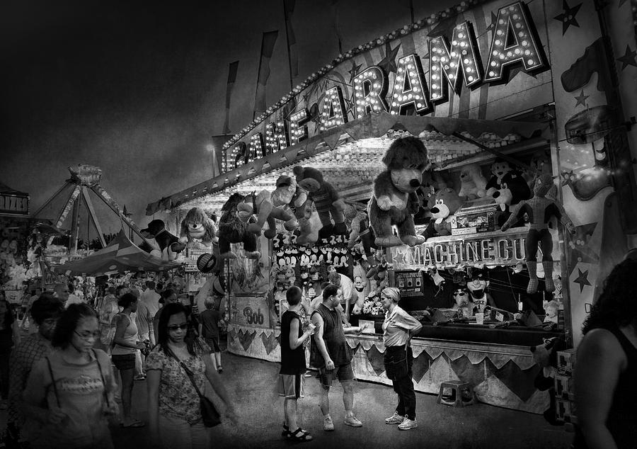 Hdr Photograph - Carnival - Game-a-rama by Mike Savad