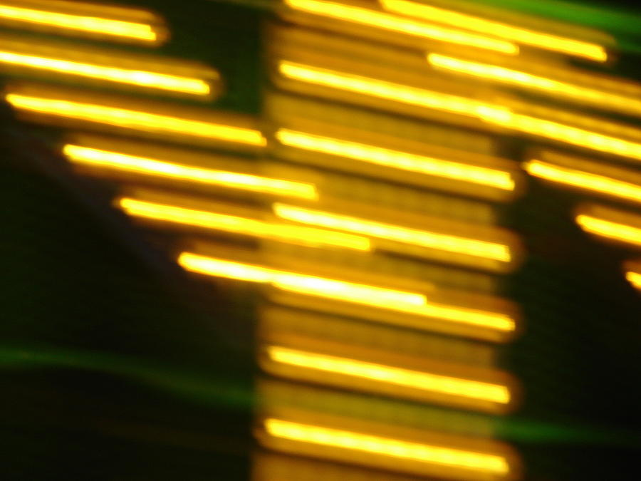 Yellow Photograph - Carnival Blur by Michelle Calkins