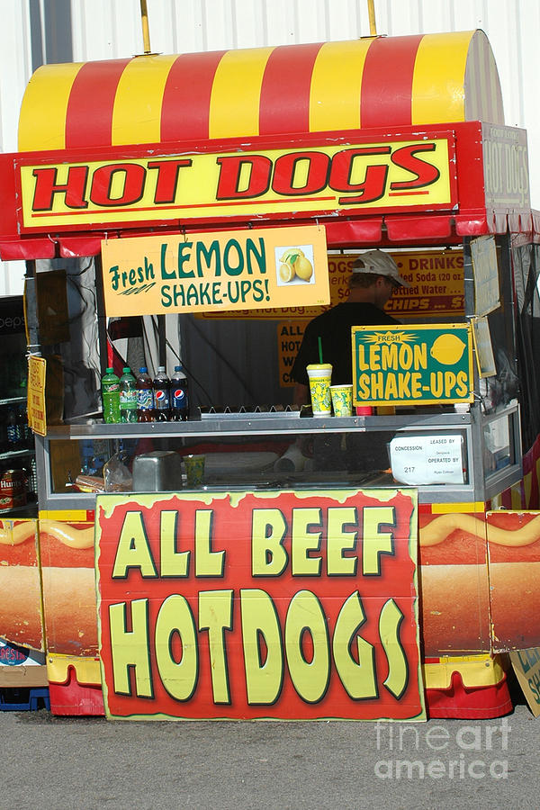 Hot Dog Stand Photograph - Carnivals Fairs And Festivals - Hot Dogs Stand by Kathy Fornal