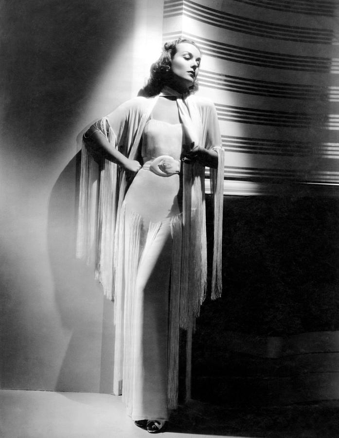 Evening Gown Photograph - Carole Lombard, Ca. Early 1940s by Everett