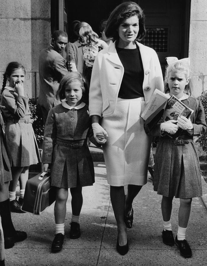 1960s Photograph - Caroline Kennedy Front Left, Jacqueline by Everett