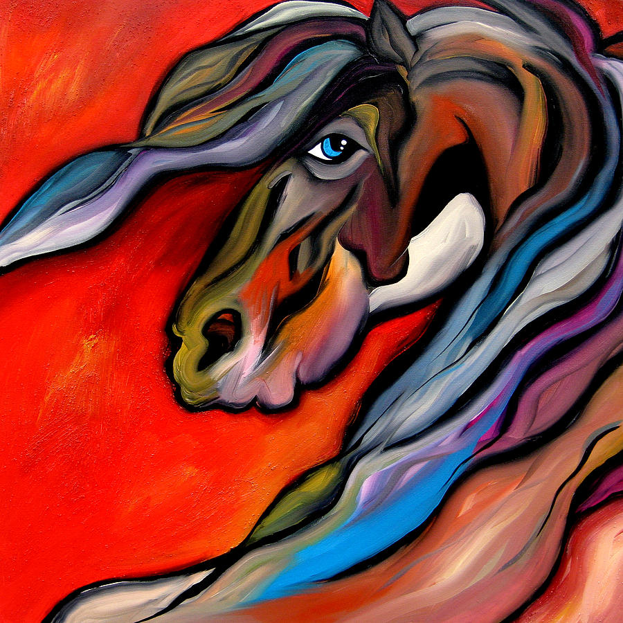 Large Abstract Horse Art