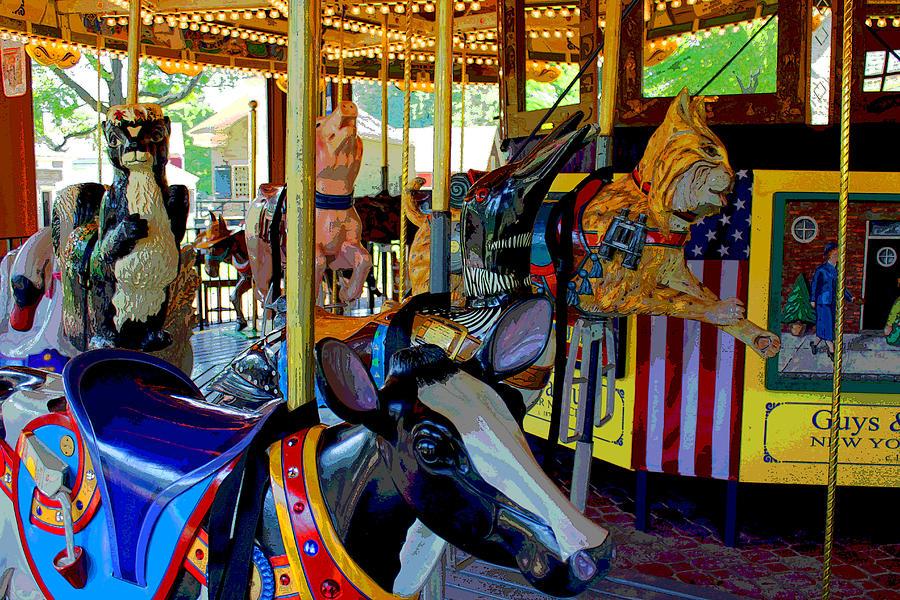 Carousel Photograph - Carousel Fun by Bob Whitt