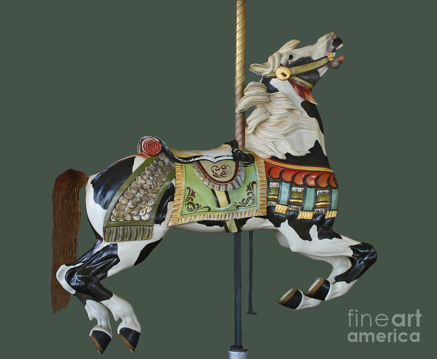 Pinto Horse Photograph - Carousel Paint Horse by Cindy Lee Longhini