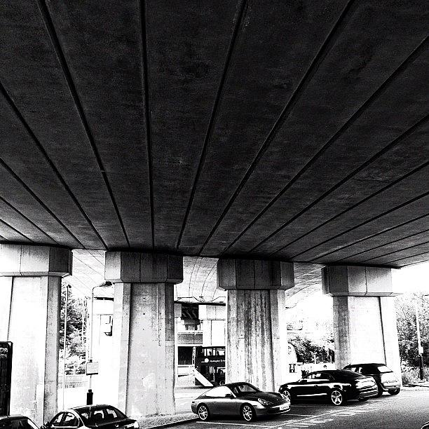 City Photograph - #carpark #car #transport #blackandwhite by Jack Wilson