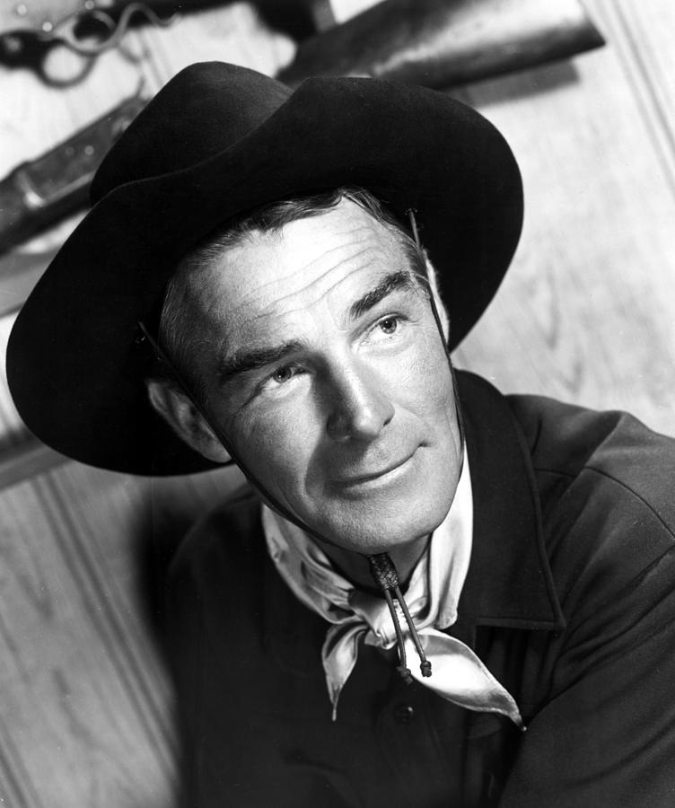Bandana Photograph - Carson City, Randolph Scott, 1952 by Everett