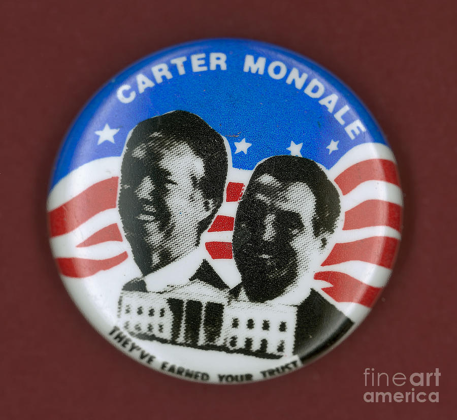 1980 Photograph - Carter Campaign Button by Granger