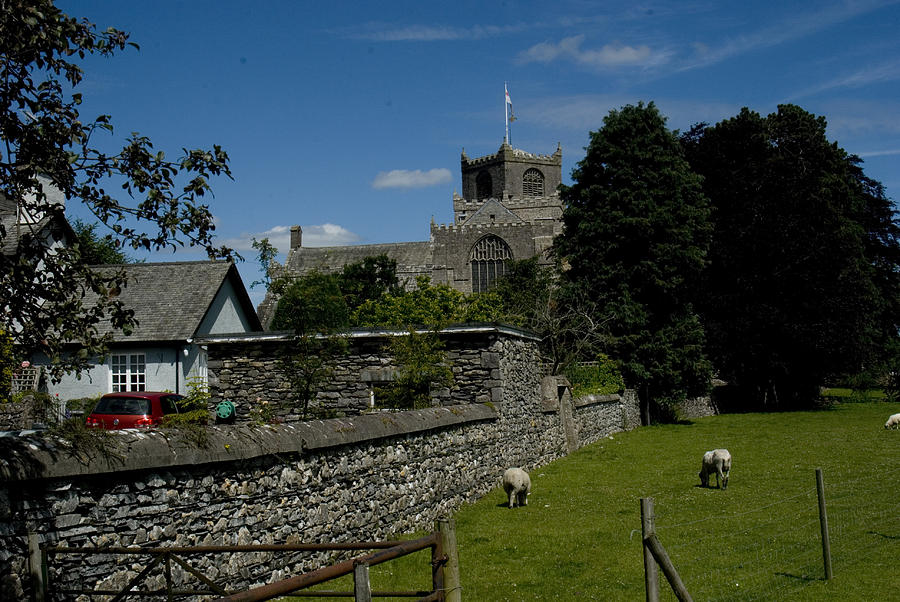Cartmel Priory From The Causeway Photograph by Peter Jenkins