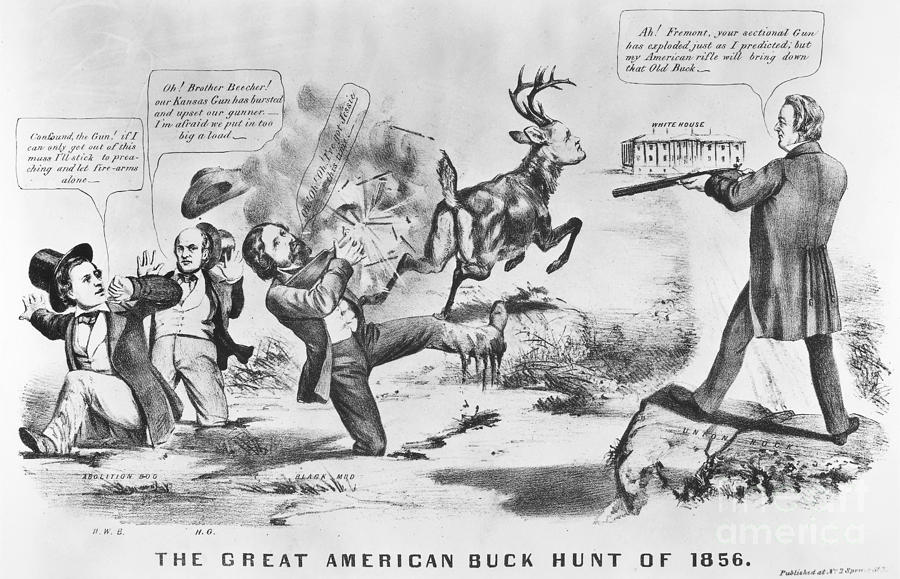 1856 Photograph - Cartoon: Election Of 1856 by Granger