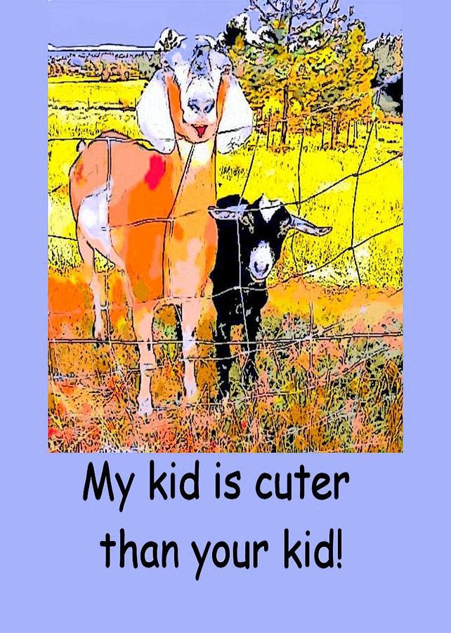 Goat Photograph - Cartoon Kid by Myrna Migala