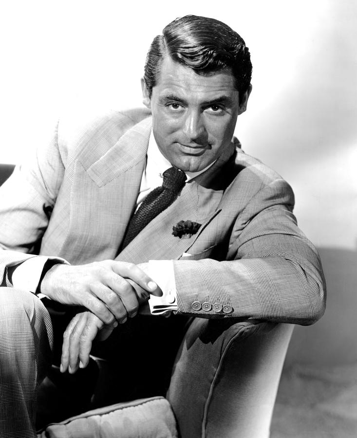 Carnation Photograph - Cary Grant, Portrait by Everett