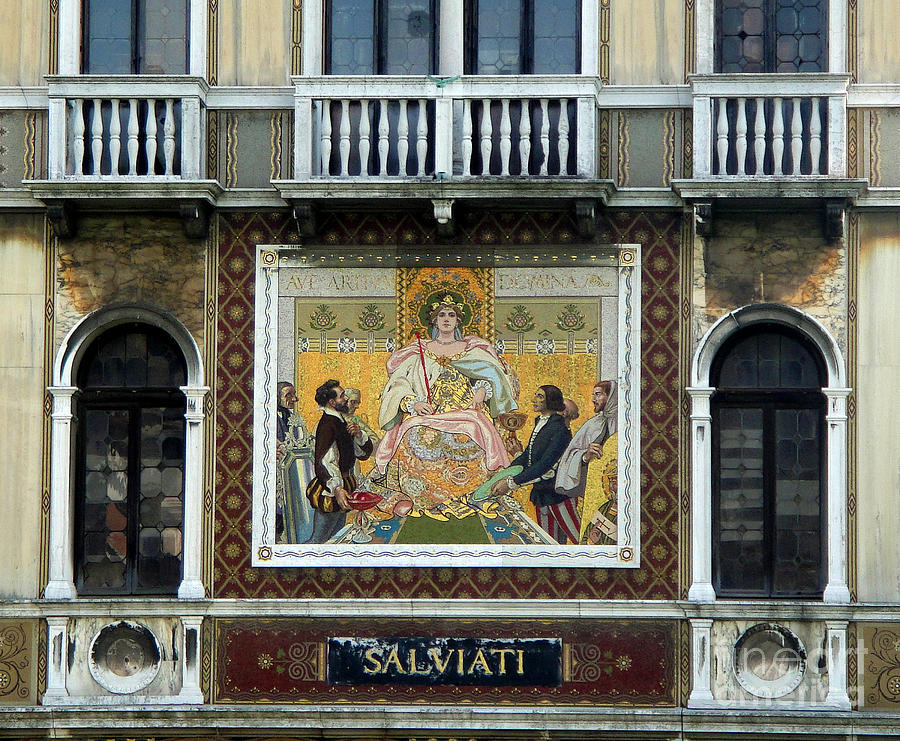 Venice Italy Painting - Casa Salviati -  Palace Of The Murano Glassblowers by Gregory Dyer