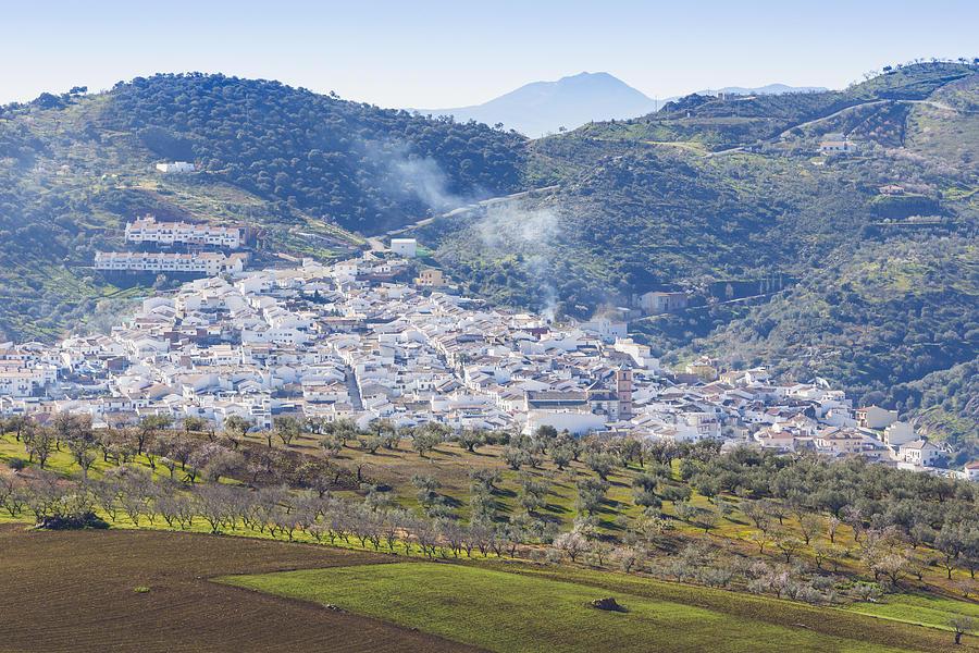 Horizontal Photograph - Casabermeja. White Village, Southern Spain. by Ken Welsh